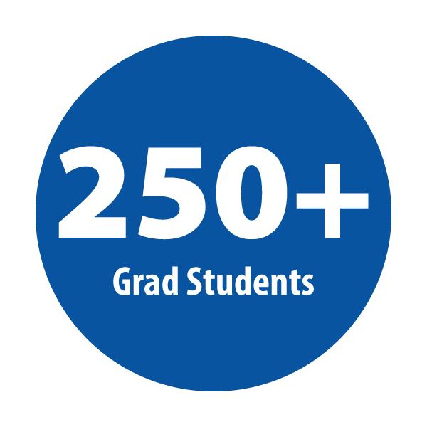 250+ grad students