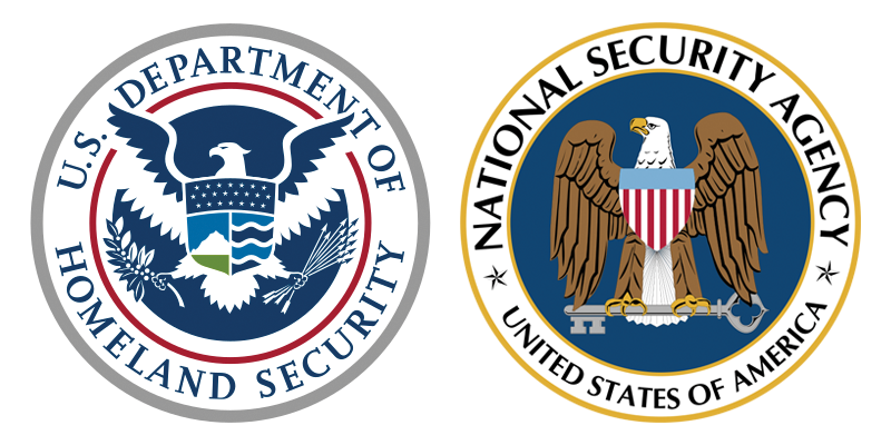 DHS and NSA seals