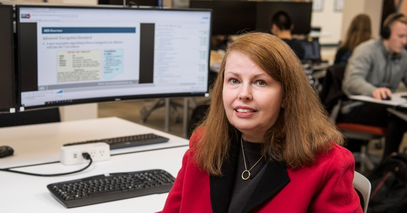 A former freelance writer, Patricia Lehman earned a master's degree in UD's cybersecurity program, which can be completed on campus or online.